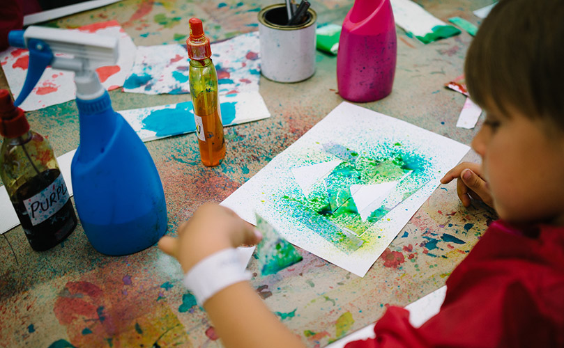 'Journeys into Paint' for 6–8 year olds
