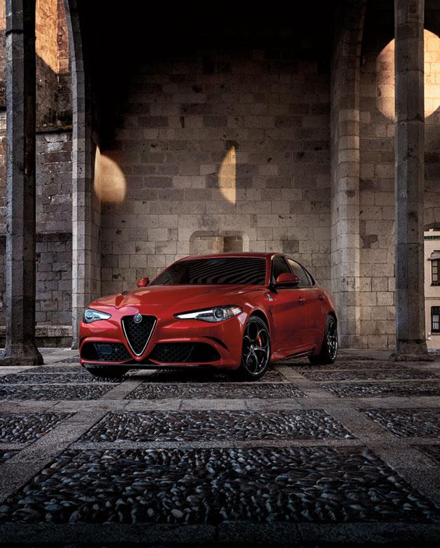 Alfa Romeo classic car display