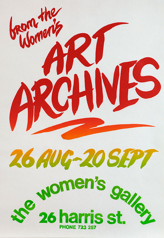Collective Women: Feminist Art Archives from the 1970s to the 1990s