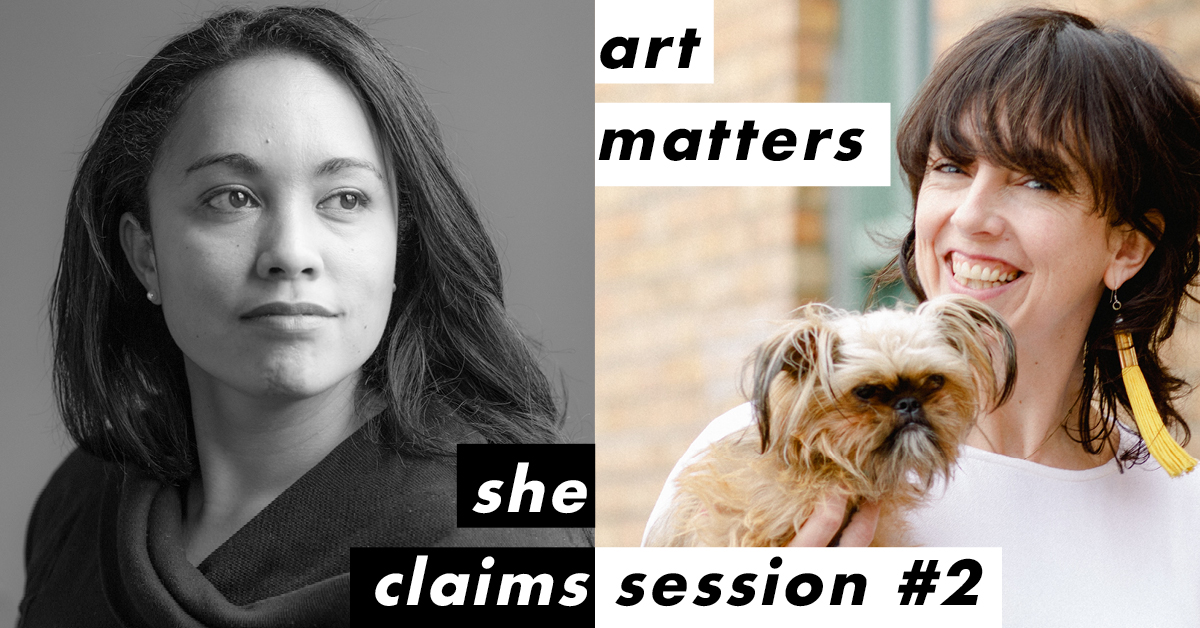 She Claims: Art Matters – Courtney Sina Meredith and Sarah Longbottom