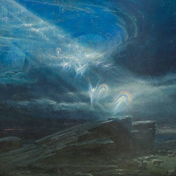 From the collection:  Albert Goodwin,  'The First Christmas Dawn', 1894 Image