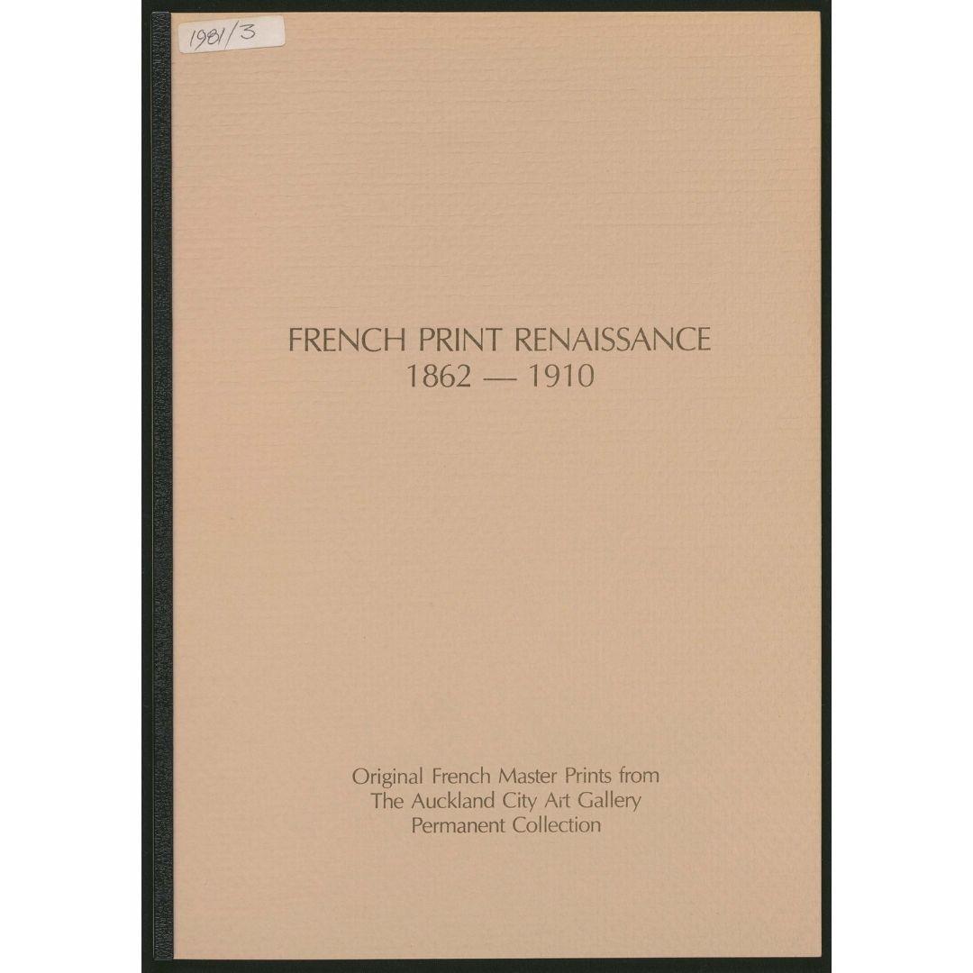 French Print Renaissance 1862-1910 Image