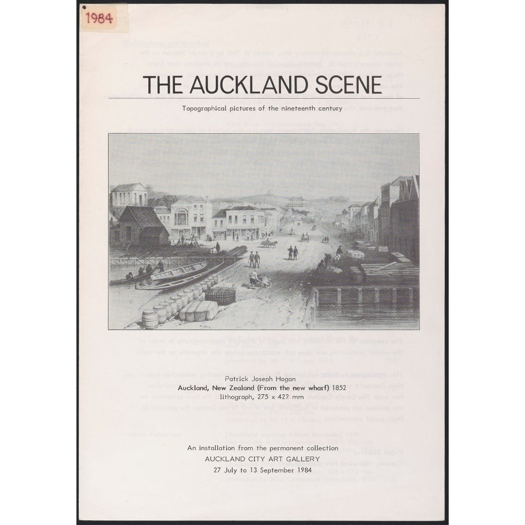 The Auckland Scene: Topographical pictures of the nineteenth century Image