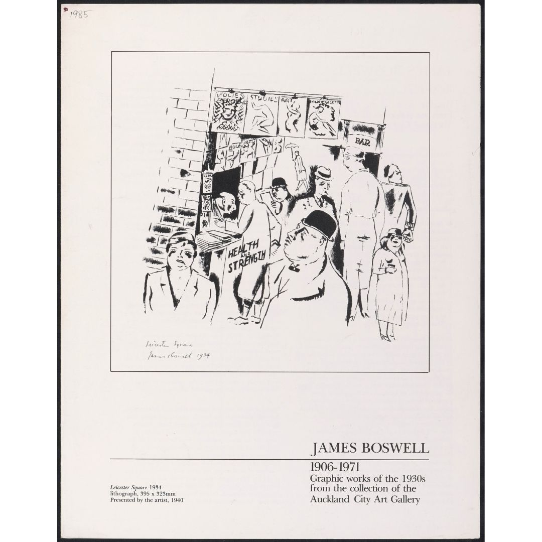James Boswell 1906-1971: Graphic works of the 1930s from the collection of the Auckland City Art Gallery Image