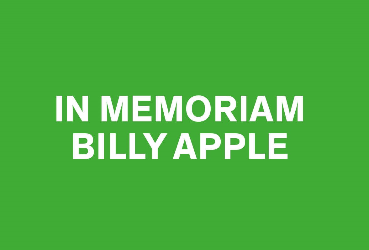 In memory of Billy Apple Image