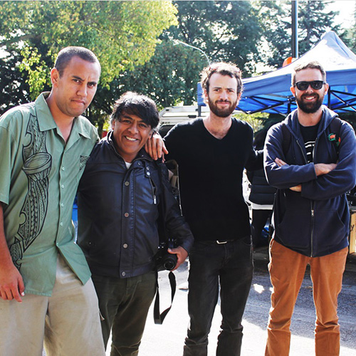 Otara Fleamarket with Chilean artist Bernardo Oyarzún Image