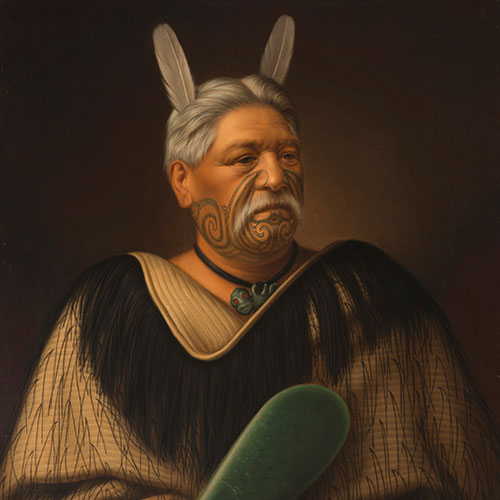 Historic Māori Portraits Travel to the Czech Republic Image