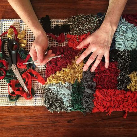 Rag rug workshop with Vita Cochran – May