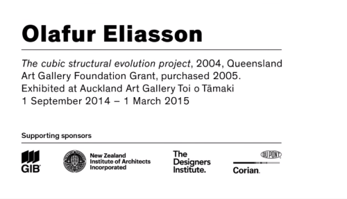 Olafur Eliasson: The cubic structural evolution project Image