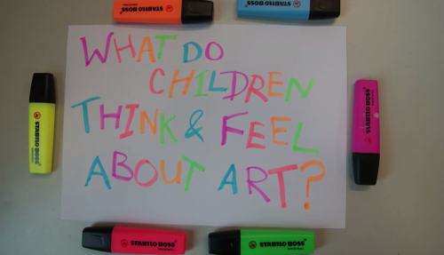 Youth Media Internship 2013: What do children think and feel about art? Image
