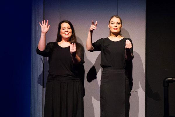<p>Sign Language interpreting at <em>The Sound of Music</em> (2014).</p>