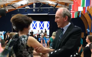 Ceilidh at Auckland Town Hall