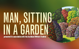 Man, Sitting in a Garden