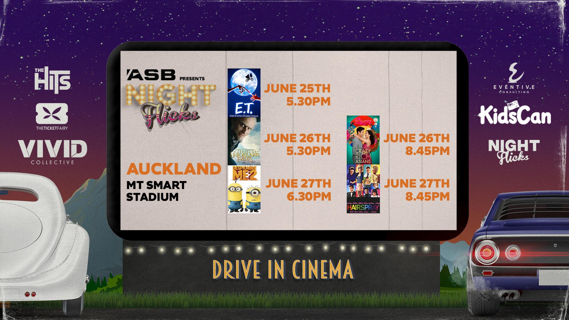 Night Flicks Drive In Cinema at Mt Smart Stadium