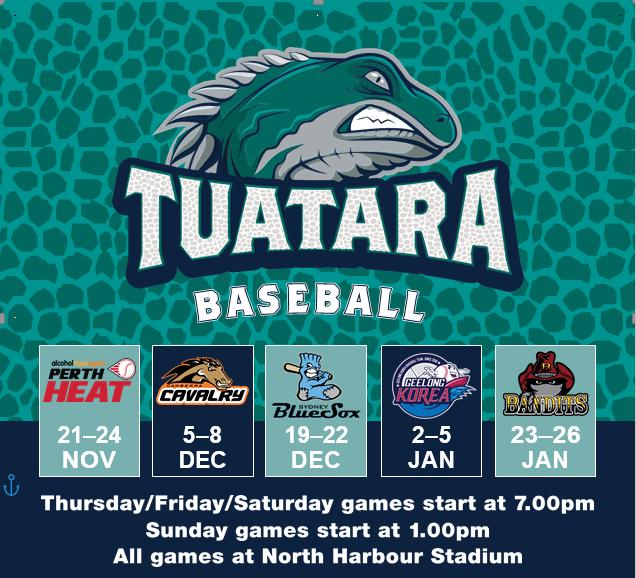 Auckland Tuatara 2019/20 schedule